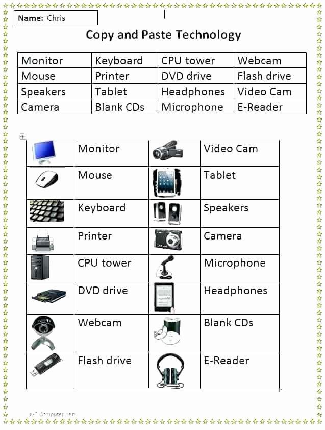 Free Printable Keyboarding Worksheets Unique Puter Keyboard Worksheets Printables Puter Worksheets
