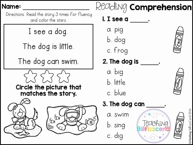 Free Printable Kindergarten Fluency Passages Free Kindergarten Reading Prehension for Beginning