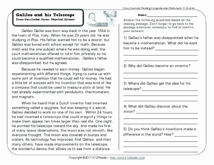 Free Printable Kindergarten Fluency Passages Image Result for Free Printable Worksheets Grade 4