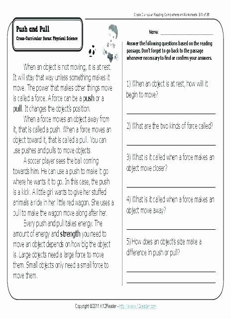 Free Printable Kindergarten Fluency Passages Kindergarten Reading Skills Worksheets Prehension Grade 1