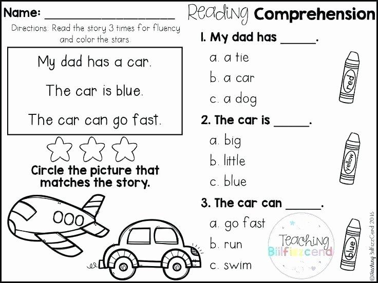 Free Printable Kindergarten Fluency Passages Printable Worksheets for Kindergarten Reading – Petpage