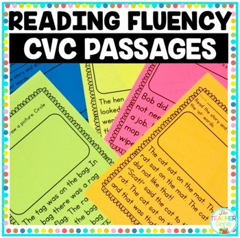 Free Printable Kindergarten Fluency Passages Reading Fluency Passages Cvc Word Family Kindergarten