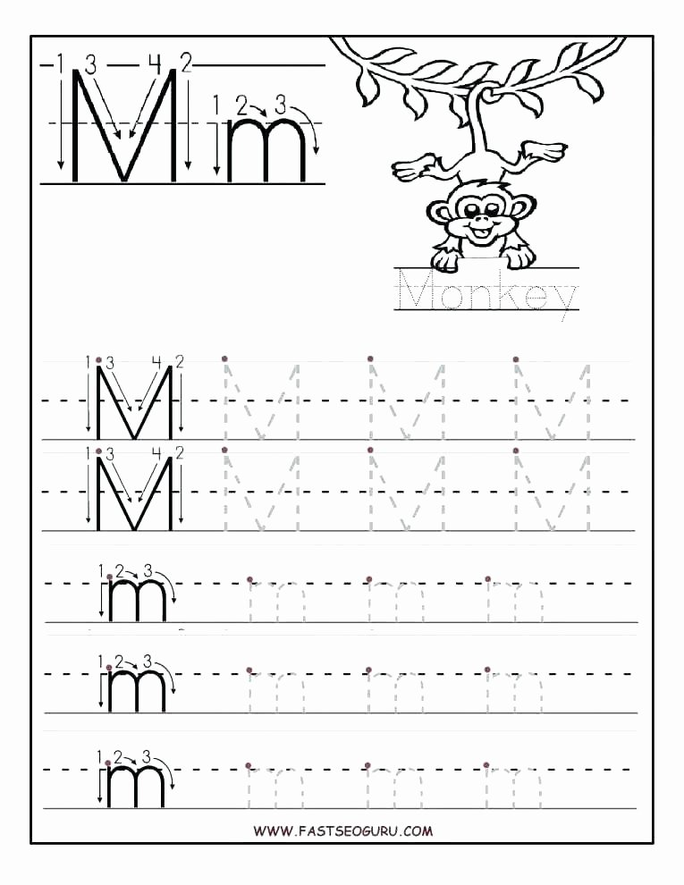 Free Printable Letter M Worksheets Letter M Tracing Worksheets and Writing Printable Worksheet