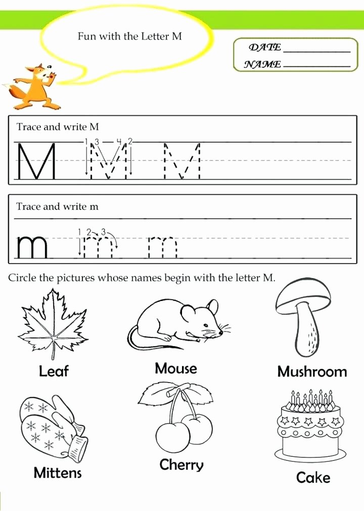 Free Printable Letter M Worksheets M Worksheets for Kindergarten