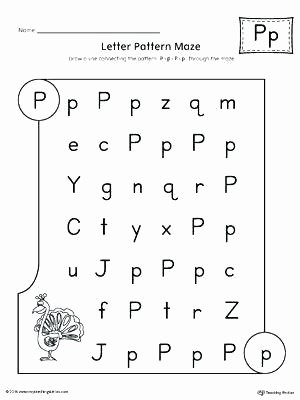 Free Printable Letter P Worksheets Letter Ii Worksheets for Kindergarten