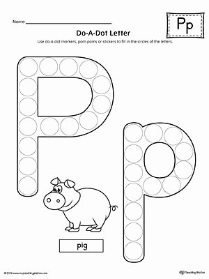 Free Printable Letter P Worksheets Letter P Do A Dot Worksheet
