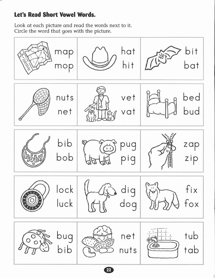 Free Printable Long Vowel Worksheets 030 Printable Word Phonics Unit Cvc Words Families Freebie