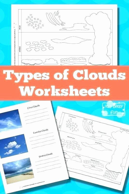 Free Printable Main Idea Worksheets Free Printable Types Clouds Worksheets and Cloud Main