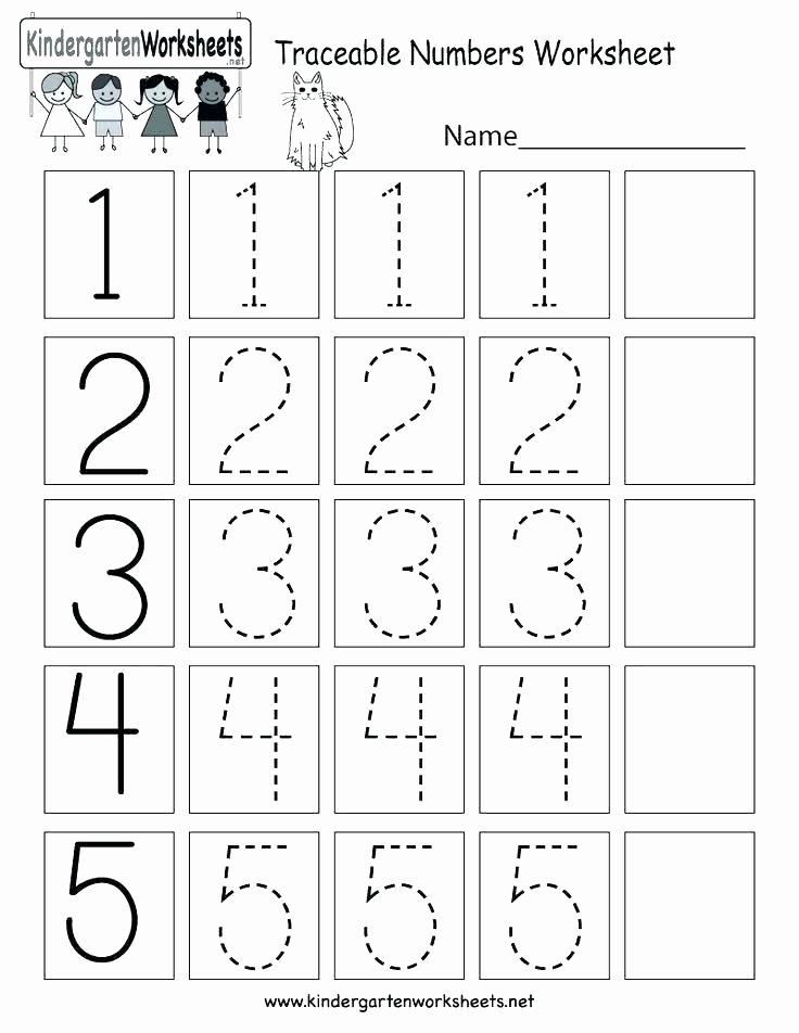 Free Printable Number Tracing Worksheets Free Printable Number Tracing Worksheets Preschool Worksheet