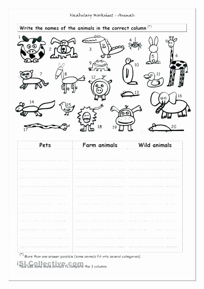 Free Printable Preposition Worksheets Preposition Worksheets Grade Farm Animal for First