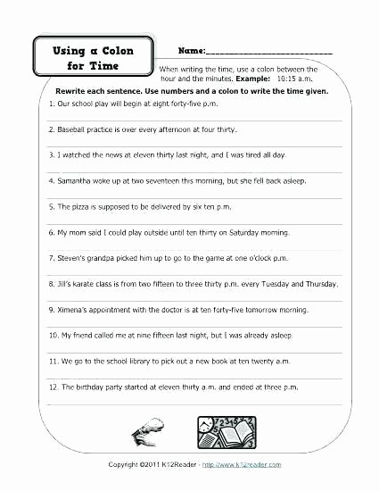 Free Printable Punctuation Worksheets Grammar and Punctuation Worksheets 8th Grade – Onlineoutlet