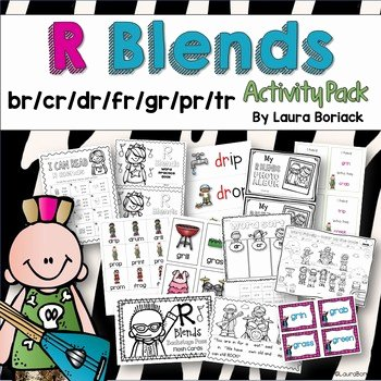 Free Printable R Blends Worksheets R Blends Activity Pack