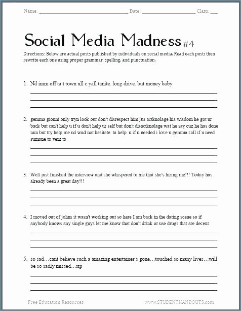 Free Printable Religious Worksheets Lovely Free Educational Worksheets for Middle School