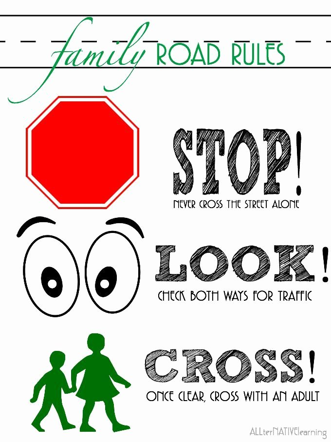 Free Printable Safety Signs Worksheets Beautiful 9 Rules Of the Street for Teaching Road Safety to Children
