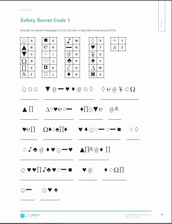 Free Printable Secret Code Worksheets Beautiful Eve Secret Code Worksheets and Activities Grade Math