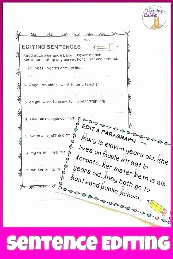 Free Printable Sentence Structure Worksheets Middle School Grammar Worksheets Simple Sentence Structure