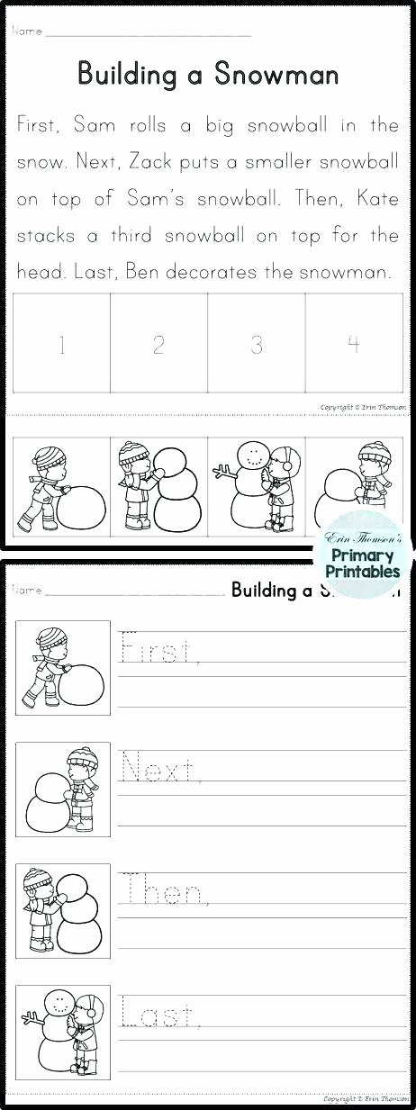 Free Printable Sequencing Worksheets Sequencing events Worksheets for Grade 1 Sequence events