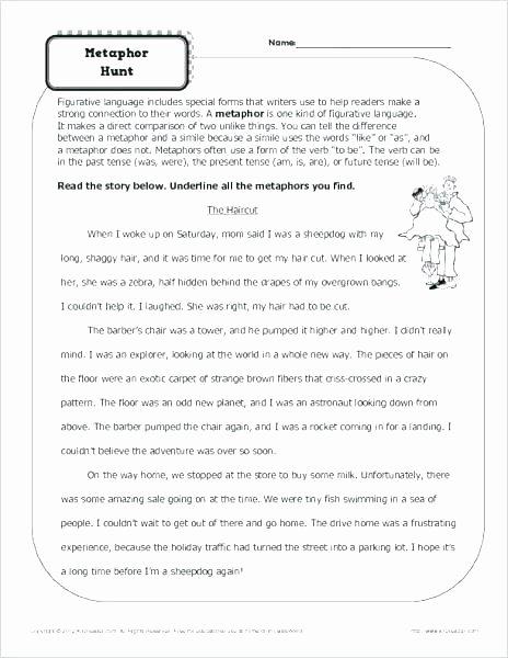 Free Printable Simile Worksheets Free Simile Worksheets Worksheet Grade 3 Similes Metaphor