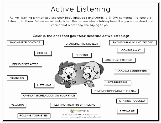Free Printable social Skills Worksheets Active Listening is A Critical Skill to Learn for Children