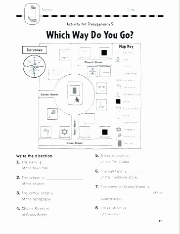 Free Printable social Skills Worksheets Elementary Map Skills Worksheets
