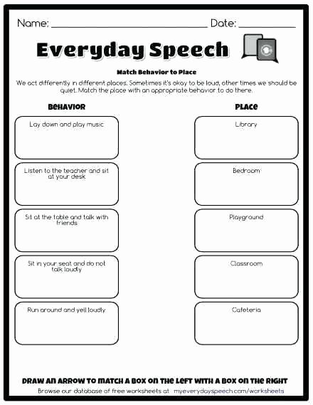 Free Printable social Stories Worksheets Personal Space social Story Worksheets Environment Worksheet