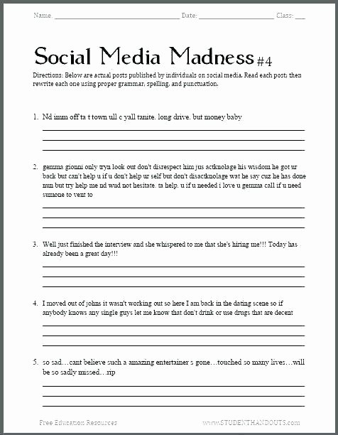 Free Printable social Stories Worksheets social Skills Worksheets for Middle School