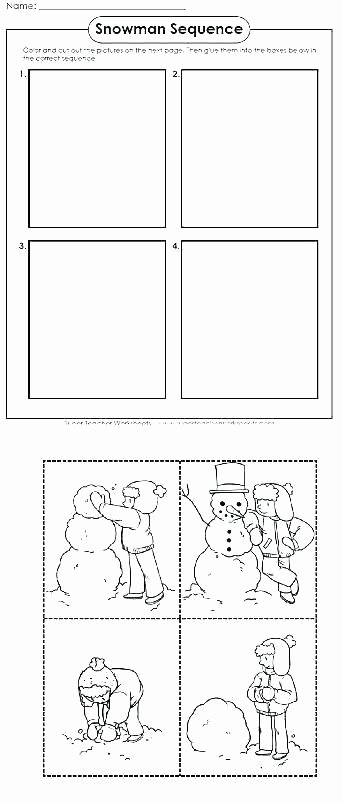 Free Printable Story Sequencing Worksheets Sequencing Worksheets for Kindergarten Cut and Paste Story