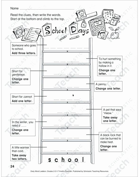 Free Printable Word Ladders Ladder Missing Number to Worksheets Vocabulary Worksheets