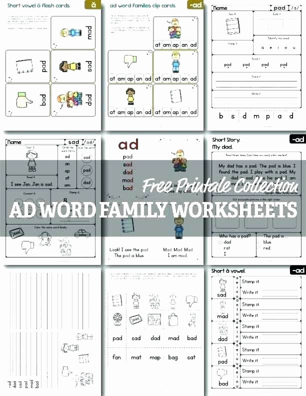 Free Printable Word Ladders Printable Word Family Worksheets