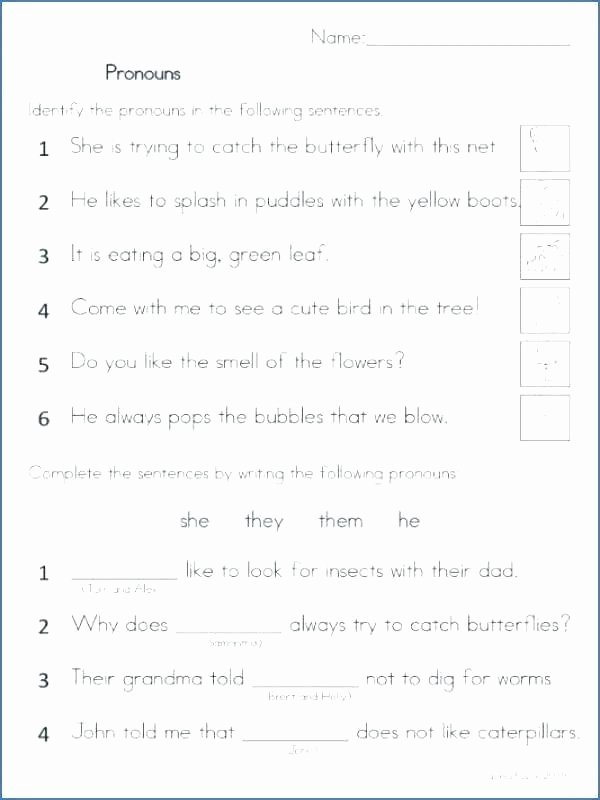 Free Pronoun Worksheets Pronoun Worksheets First Grade – Odmartlifestyle