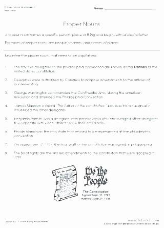 Free Proper Noun Worksheets Mon and Proper Nouns Worksheets Grade for 6 Plural