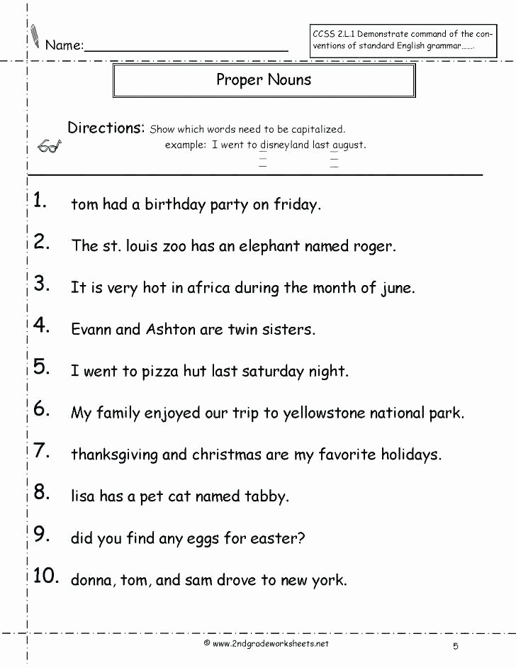 Free Proper Noun Worksheets Yellowstone National Park Worksheets