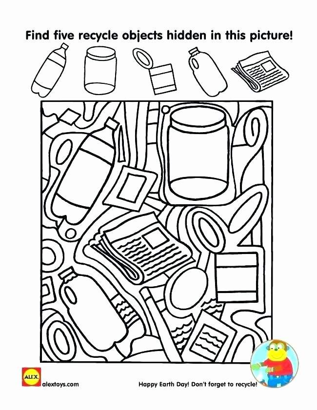 Free Recycling Worksheets Earth Day Free Preschool Word Search Worksheets Activities