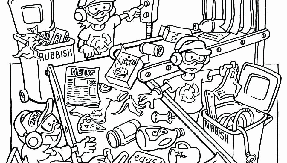 Free Recycling Worksheets Reduce Reuse Recycle Coloring Pages – Club Osijek