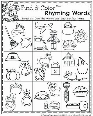 Free Rhyming Worksheets for Kindergarten Rhyming Words Worksheets for Preschoolers – Kenkowomanfo