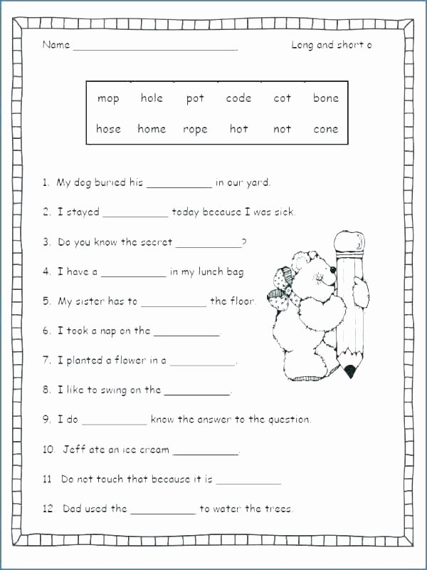 Free Silent E Worksheets Silent E Worksheets for Kindergarten