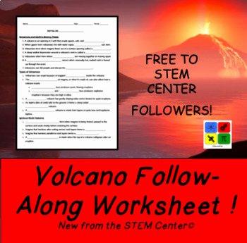 Free Volcano Worksheets Volcano Volcano Layers Worksheet