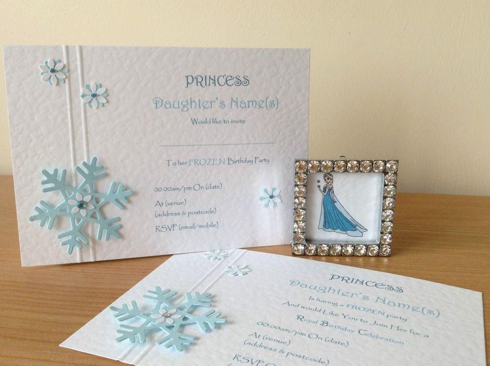 Frozen Birthday Invitations Online 10 Handmade Frozen Snowflakes Birthday Invitations Wedding