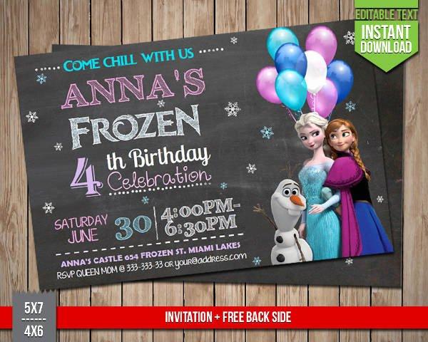 Frozen Birthday Invitations Online Free 72 Birthday Invitation Designs & Examples In Psd