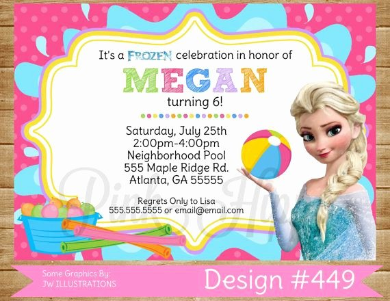 Frozen Birthday Invitations Online Free Pool Party Elsa 449 Diy Printable Invitation Free Thank You