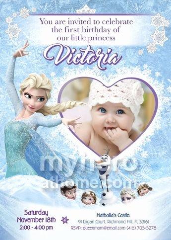 Frozen Birthday Invitations Online Frozen Invitation for Siblings