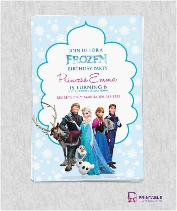 Frozen Invitations Printable Free Download 50 Birthday Invite Template format