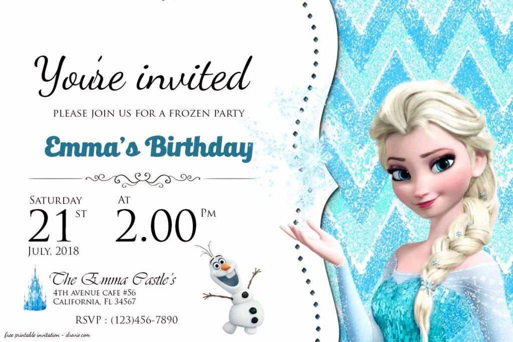 Frozen Invite Printable Free Frozen Birthday Invitation