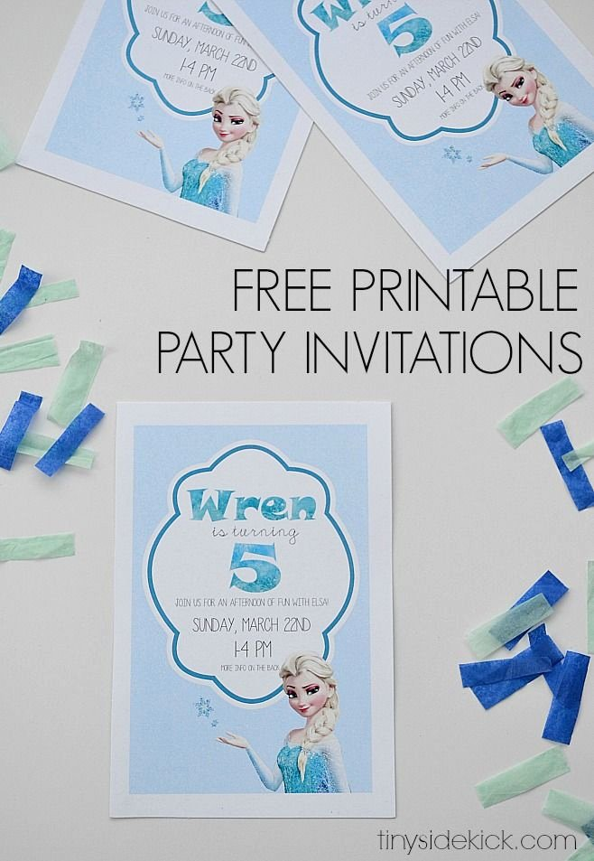 Frozen Invite Printable Free Printable Frozen Birthday Party Invitations