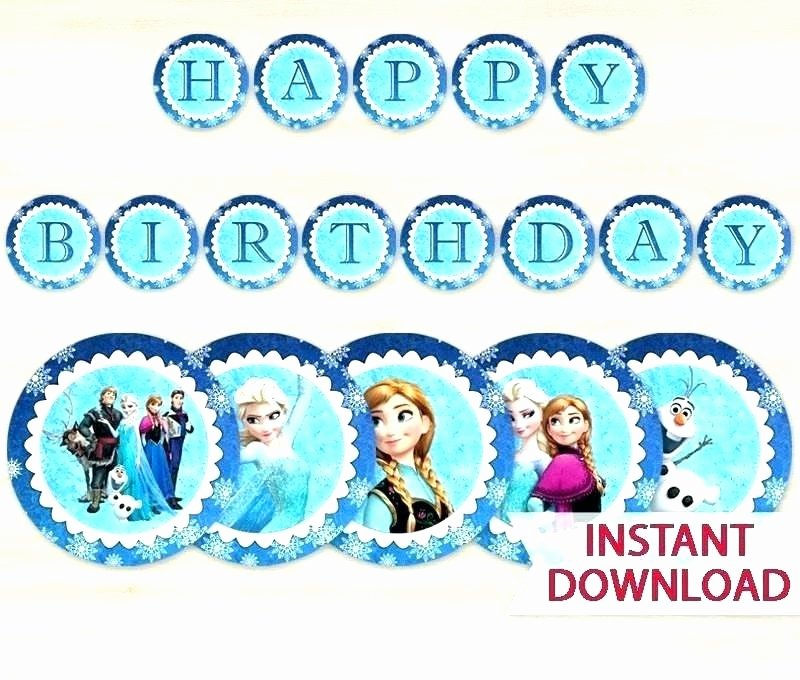Frozen Invite Printable Free Printable Happy Birthday Banner Templates