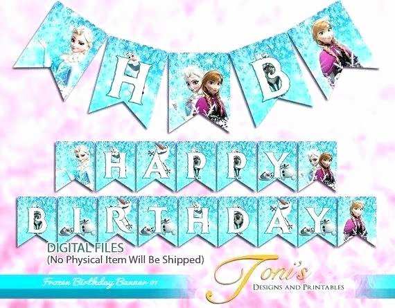 Frozen Invite Printable Frozen Birthday Banner Template – Chanceinc