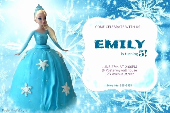 Frozen Invite Printable Frozen Birthday Invitation A Customize Template Card Video