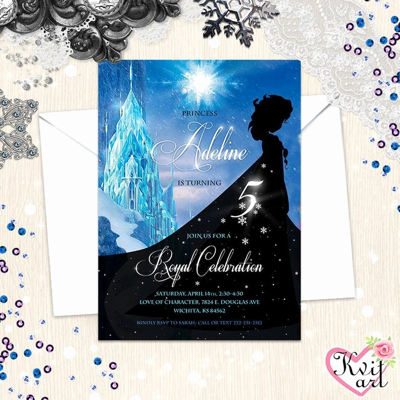 Frozen Printable Birthday Invitations Frozen Birthday Invitation Princess Elsa Royal Celebration Baby Girl S Any Age Card Snow Winter 4 5 6 7 8 9 10 11 12 13 Annual Disney Blue