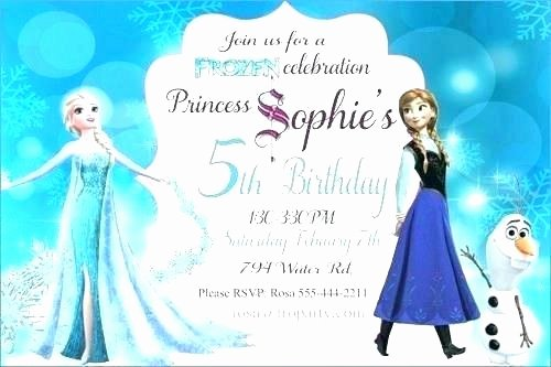 Frozen Printable Invitation Birthday Card Invitations Templates Free – Beauceplus