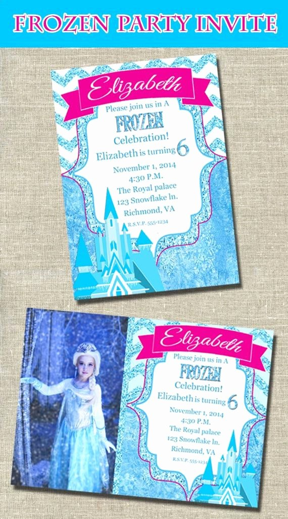 Frozen Printable Invitation Frozen Party Invitation Printable Frozen Party Frozen